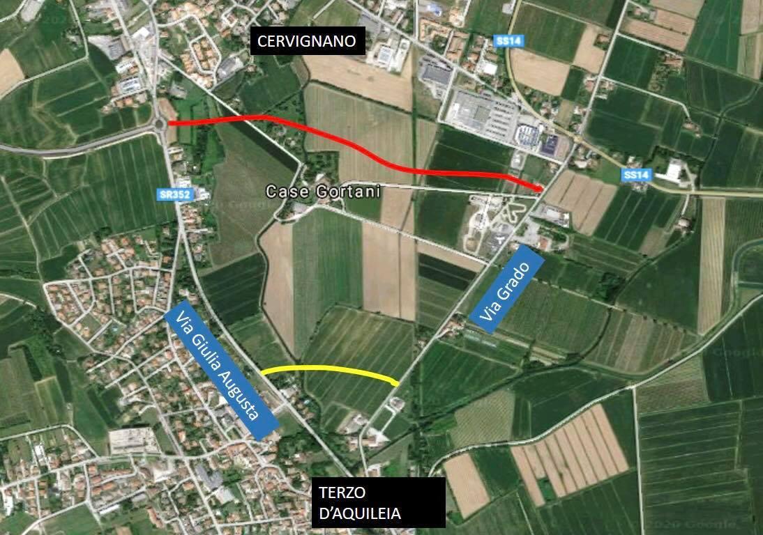 Immagine per Cittadini di Cervignano contro la nuova strada che bypassa Aquileia, chiedono più tutela del territorio