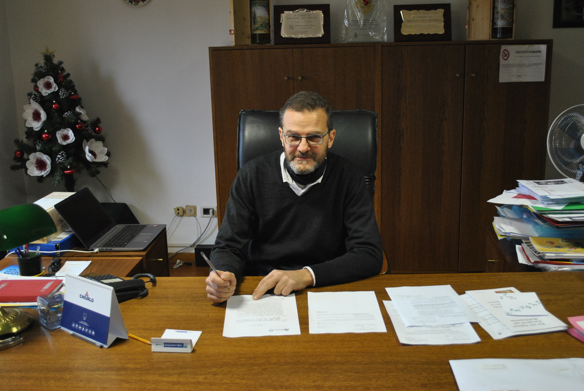 Immagine per Tampone positivo per il sindaco di Dolegna, scatta la quarantena per tutta la famiglia