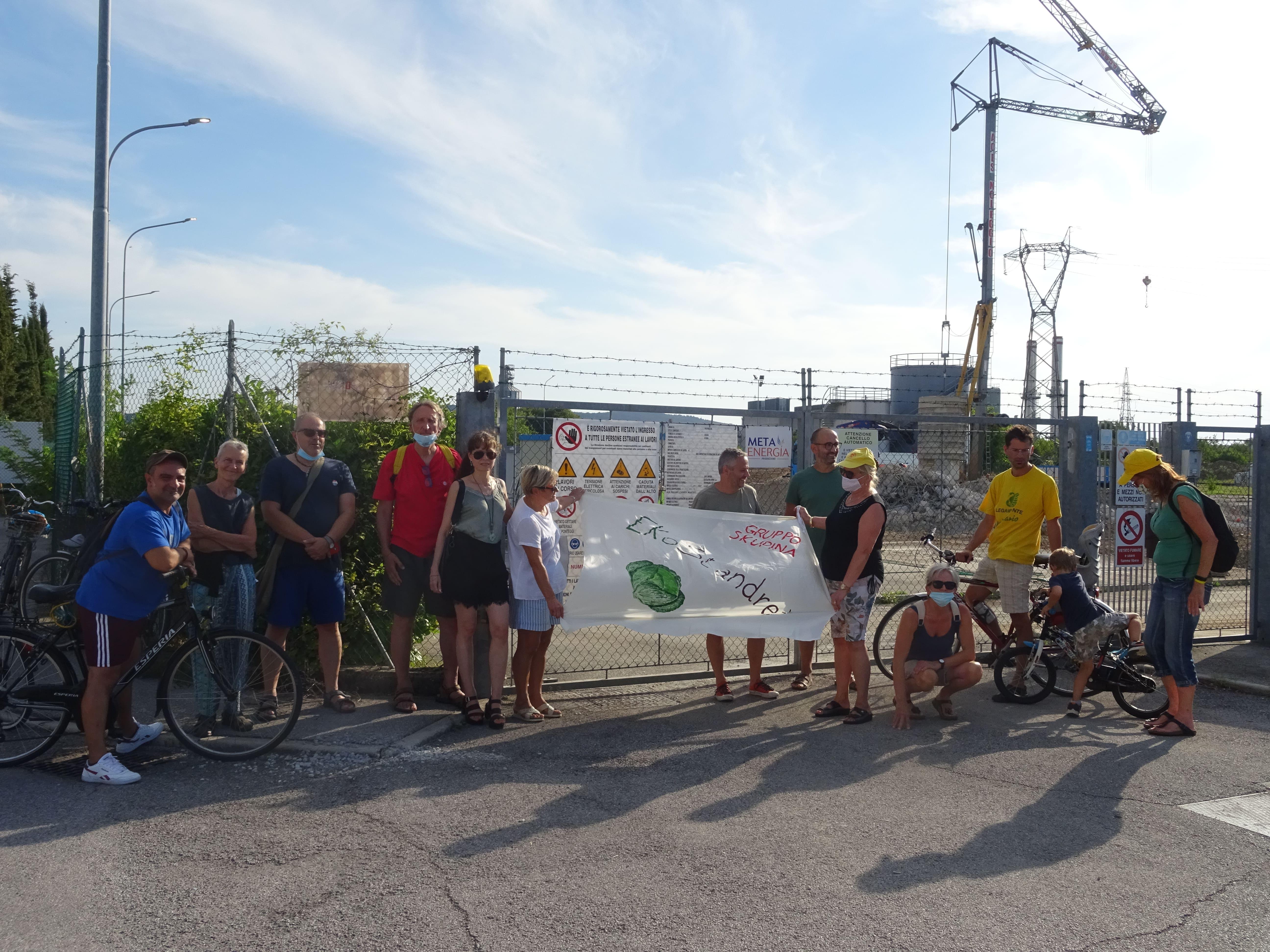 Kritje za novo plinsko tovarno Sant'Andrea, jeza državljanov in odborov pred vrati