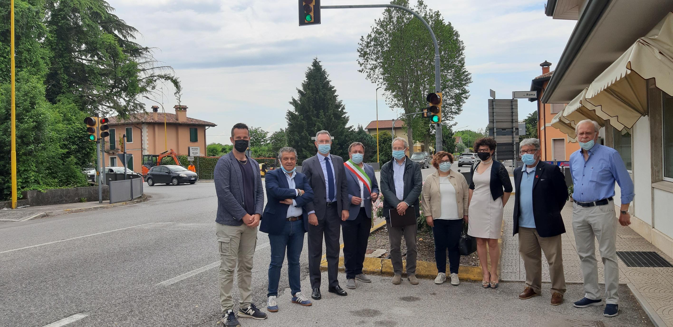 Immagine per Più sicurezza sulla strada da Palmanova ad Aquileia, nasce la rotonda del Taj